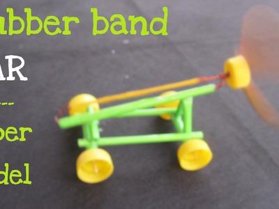 How to make a Paper Rubber Band Powered Car | Air Car