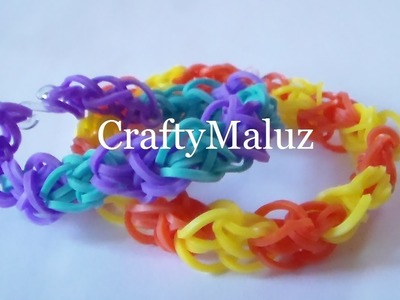 How to make the rainbow loom:Diamond - Como Hacer Pulsera De Gomitas En Forma De Diamante