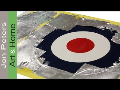 How to use Aluminum Leaf to Make an RAF Roundel