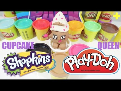 HUGE Play-Doh SHOPKINS CUPCAKE QUEEN Limited Edition - DIY Play-Doh Challenge!