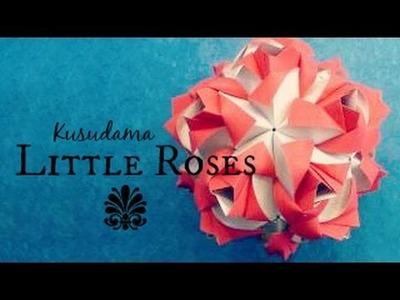 Little Roses Origami Ball. Kusudama (Maria Sinayskaya)