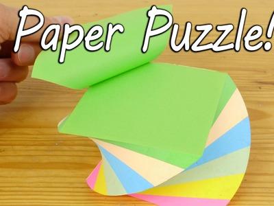 Make a Paper Puzzle - Brain Teaser