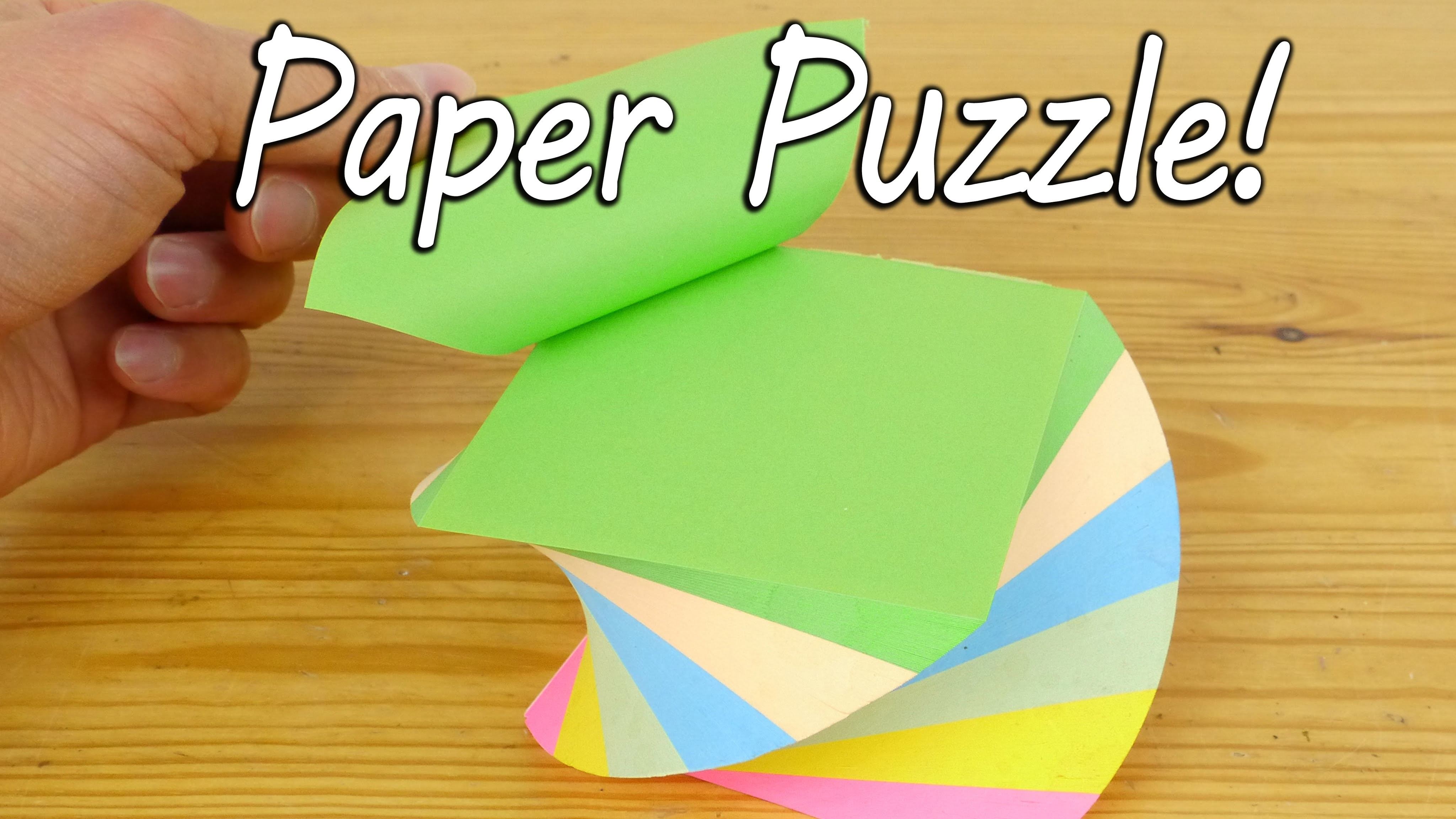 Make a Paper Puzzle - Brain Teaser