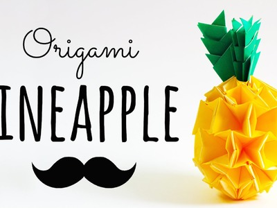 Modular Origami Pineapple Instructions