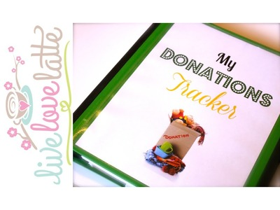 Never Miss a Donation Deduction Again! Paper Organization Part 4 of 4  {how to organize}