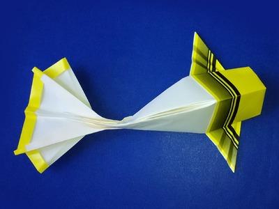 Origami Koi (Riccardo Foschi) Variation. Origami fish . Easy paper fish