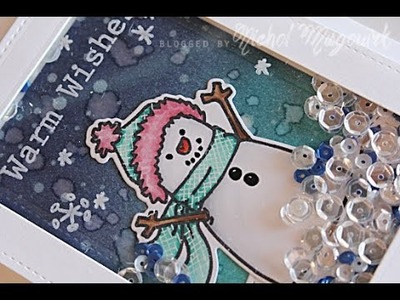 Paper Crafter's Library Guest Designer | Snowman Shaker Card