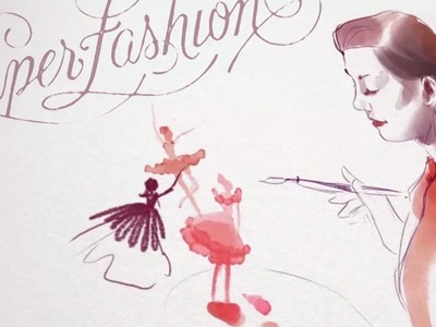 Paper Fashion • Queen of ballerinas illustration