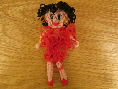Rainbow Loom Feather Boa Charm :Betty Boop or Girl. Easy