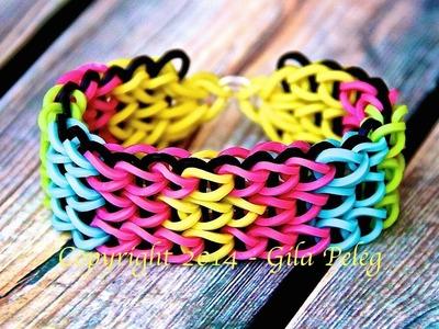 Rainbow Loom-Triple Single bracelet-designed bracelet
