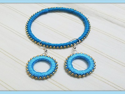 Silk Thread Jewellery making with Paper Quilling Strips