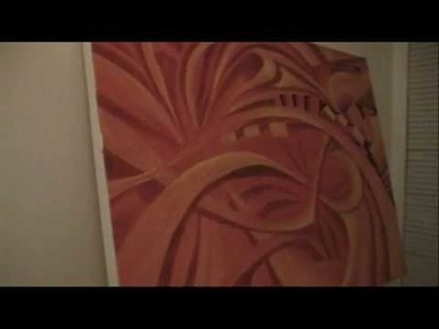 Speed Painting An Abstract Art Piece #7
