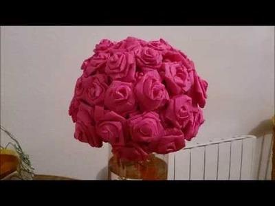 Trandafiri de hartie creponata !!! How to make roses with crepe paper