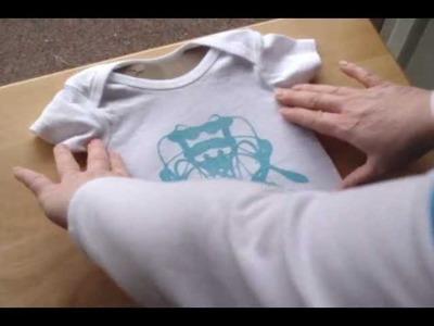 Unique Baby Gift - Decorative Onesie - Ink Blot Design