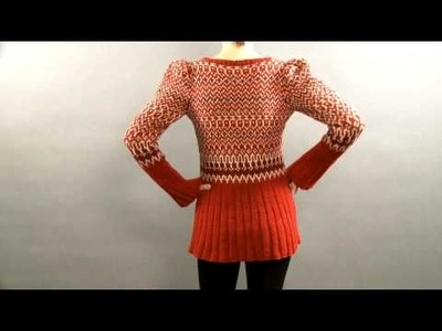 #20 Fair Isle Ribbed Tunic, Vogue Knitting Holiday 2008