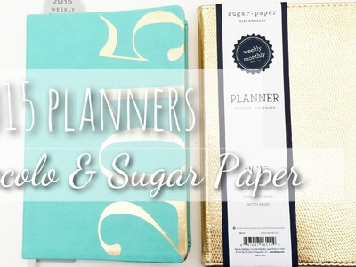 2015 Planners Eccolo and Sugar Paper