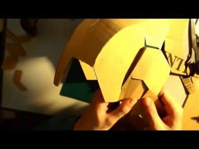 #32: Iron Man Mark 42 Helmet DIY 4b.8 - extra, connecting jaw (cardboard)