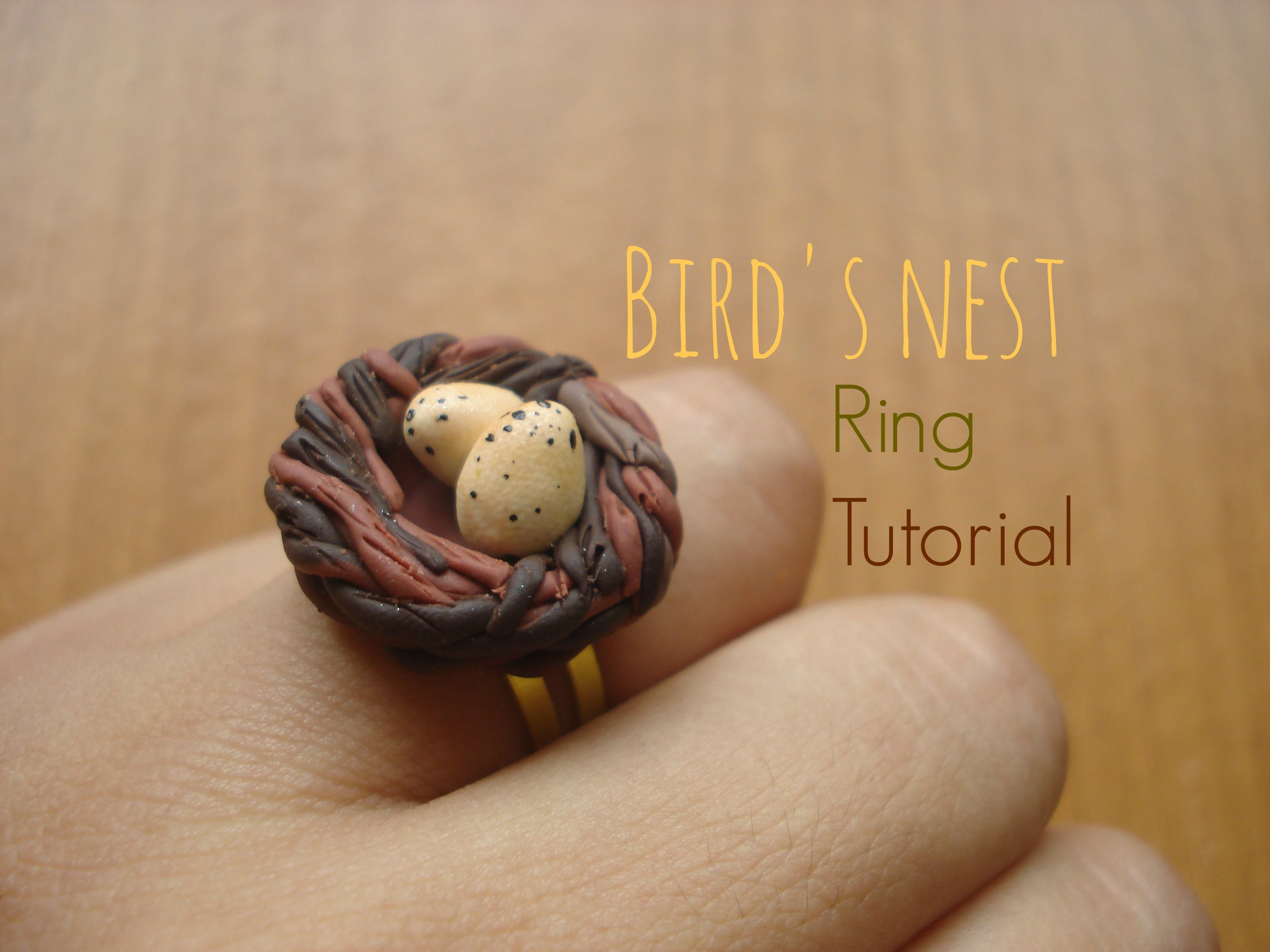 Bird's nest ring tutorial - polymer clay