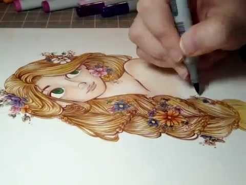 Copic Marker Illustration: Rapunzel