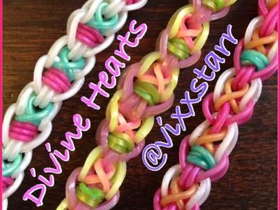 """Divine Hearts"" Bracelet! Hook Only Tutorial (Rainbow Loom)"