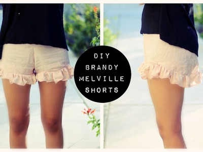 DIY BRANDY MELVILLE INSPIRED SHORTS | pacifically
