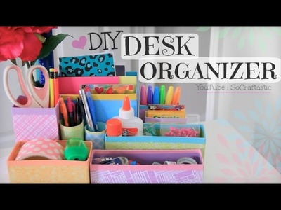 DIY Desk Organizer. Back to School. Room Decor How To