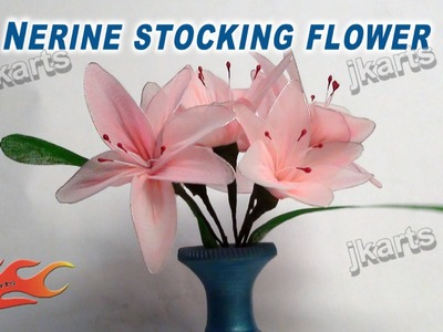 DIY How to make stocking flower Nerine  - JK Arts 237