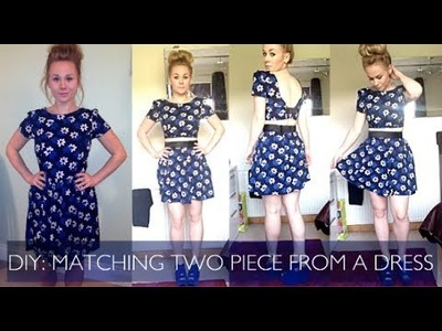 DIY: Make a Matching Two Piece Set from a Dress