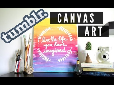DIY Tumblr Inspired Canvas Art (Room Decor)