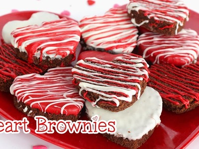 DIY Valentine's Day Treats : Heart Brownies