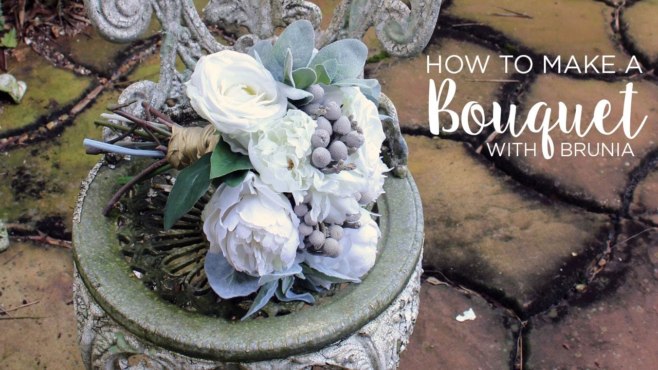DIY Wedding Bouquet: How to Make a Bouquet with Brunia