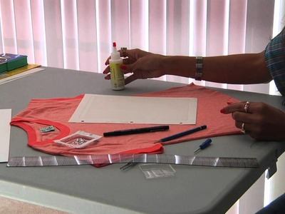 Fashion Design : How to Design Your Own Rhinestone T-Shirt