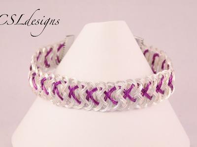 Flat wire kumihimo braid