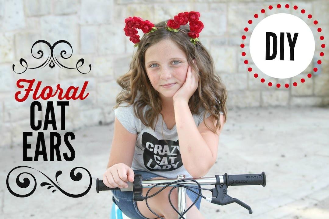 Floral Cat Ears | DIY | ShowMeCute