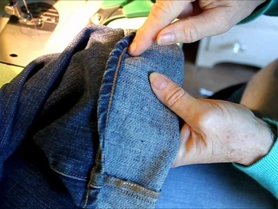 Hemming Jeans the Euro.Tricky Style