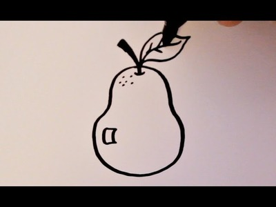 How to Draw a Cartoon Pear