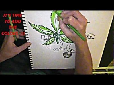 """""""How to Draw a Pot. Marijuana Leaf""""  ~by Madonna"""