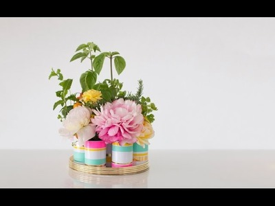 How to Make a Floral Herb Centerpiece