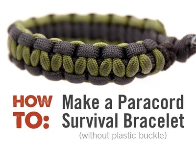 How to Make a Multi-colored Paracord Survival Bracelet (Without Plastic Clip)