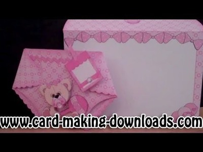 How To Make A Nappy Card www.card-making-downloads.com