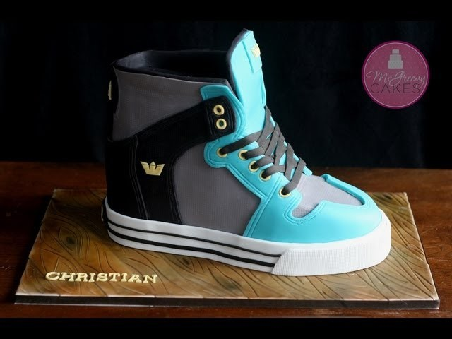 How to Make a Sneaker Cake; A McGreevy Cakes Tutorial
