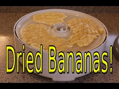 How to Make Flattened Dried Bananas