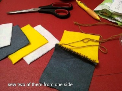 How to make soft toy with felt. It is alphabet cube.