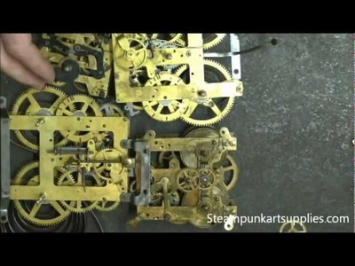 How to safely take apart a brass clock movement for Steampunk art projects