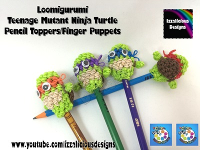 Loomigurumi Teenage Mutant Ninja Turtle Pencil Topper - amigurumi with Rainbow Loom Bands