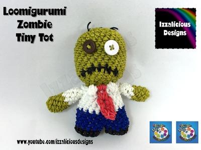 Loomigurumi Zombie Tiny Tot Halloween Figure - hook only - amigurumi with Rainbow Loom Bands