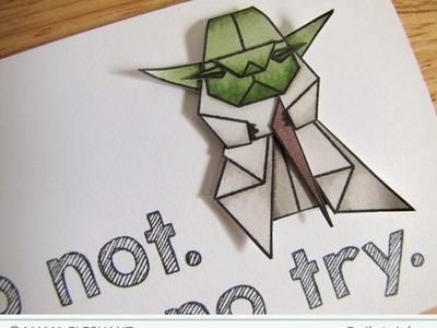 {Mama Elephant} Origami Yoda