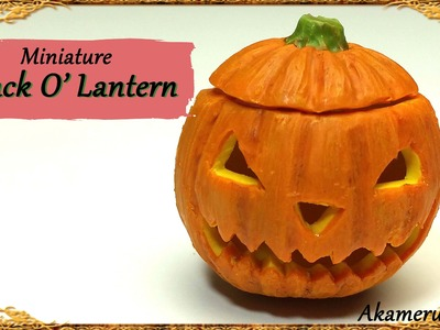 Miniature Jack O' Lantern - Polymer Clay Tutorial