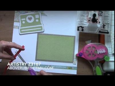 One Happy Day Summer Scrapbook Layout Artistry Cricut Cartridge