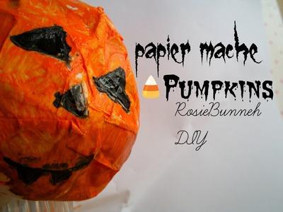 Papier Mache Pumpkins| RosieBunneh DIY